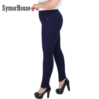 Women Pencil Pants 2016 Spring Autumn Plus Size 2XL 6XL High Waist Women Full Length Skinny