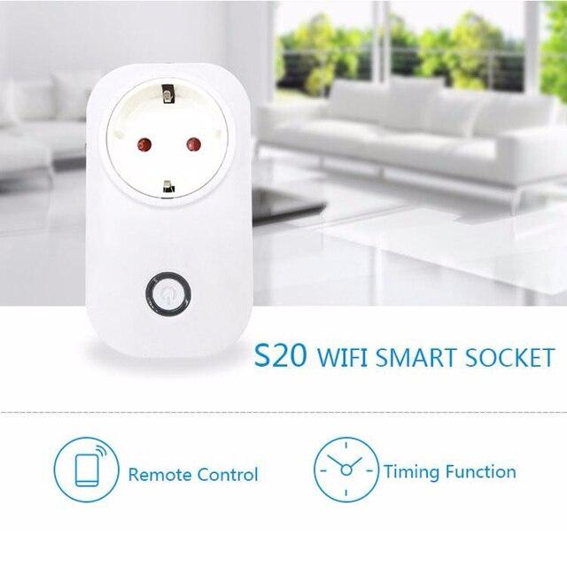 sonoff s20 s26 wifi socket EU/US/UK plug remote control Adapter wireless smart Home Automation power switch wall plug