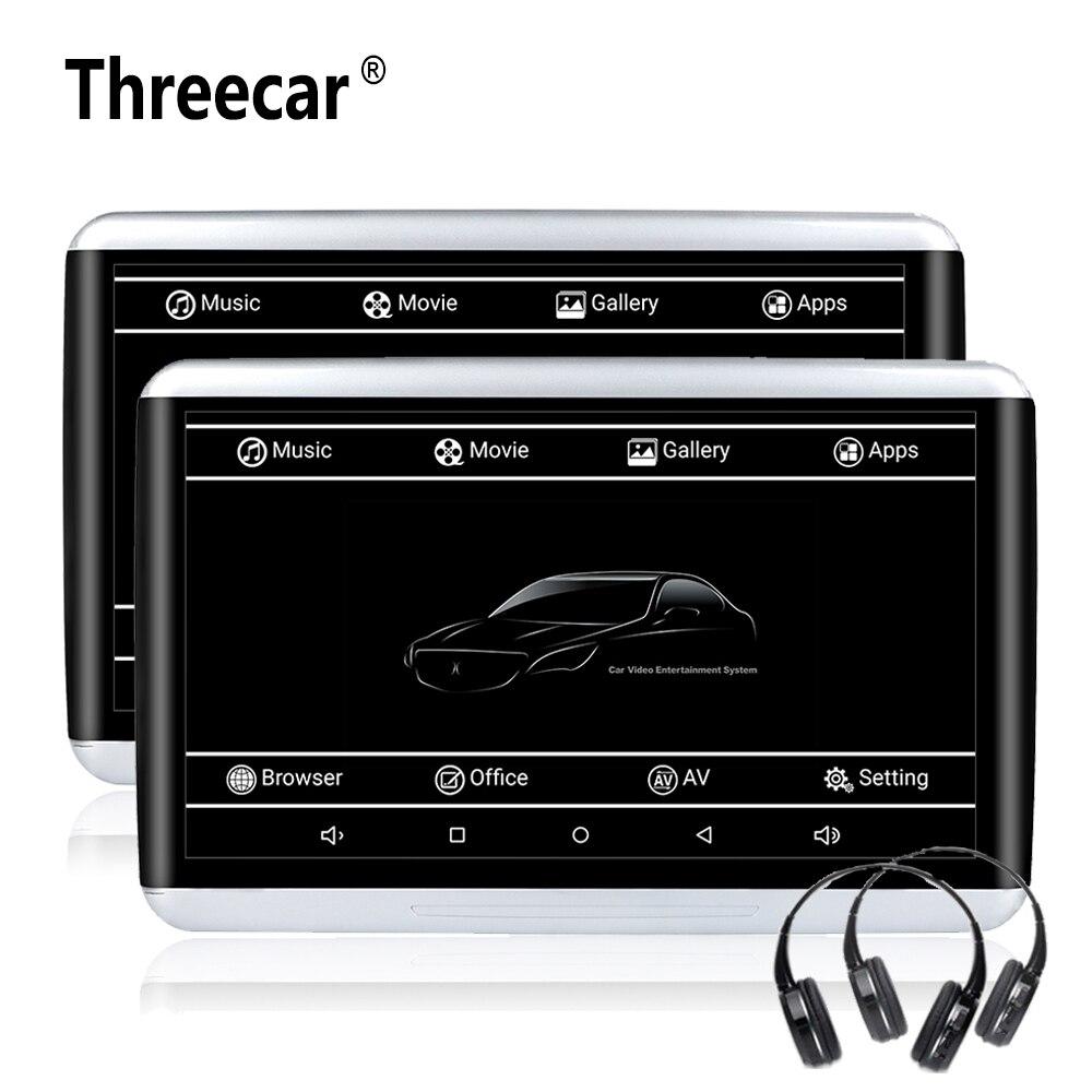 2pcs 10.6'' Android 6.0 Car Headrest DVD Monitor Player 1920*1080 HD Video Touch Screen 3G WIFI USB/SD/HDMI/IR/FM/Bluetooth цена