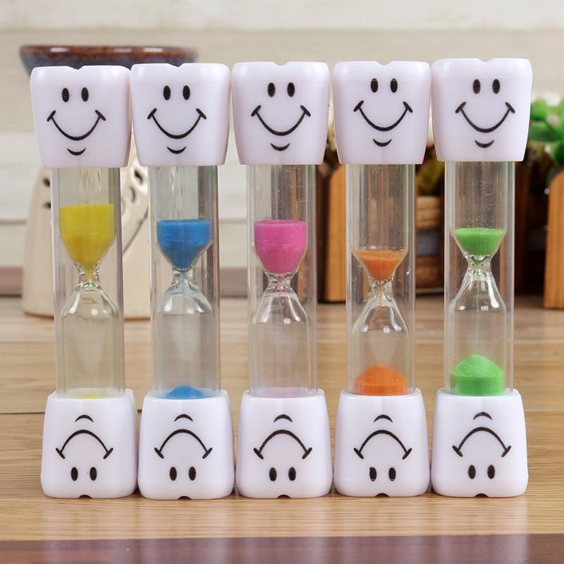 200pcs Smiley Hourglasses Desktop Sand Timer Smiling Face Sand Clock Kids Toothbrush Hourglass Timer Sand Clock