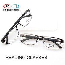 Прямоугольные очки для чтения, унисекс, дальнозоркие очки, Весенняя дужка, оправа, прозрачные линзы из смолы, модные очки, оправа, дизайн