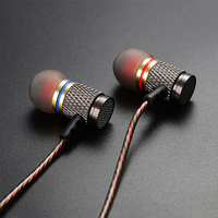 KZ ED2 Stereo Metal Earphones With Microphone Noise Cancelling Earbuds In Ear Headset DJ XBS BASS