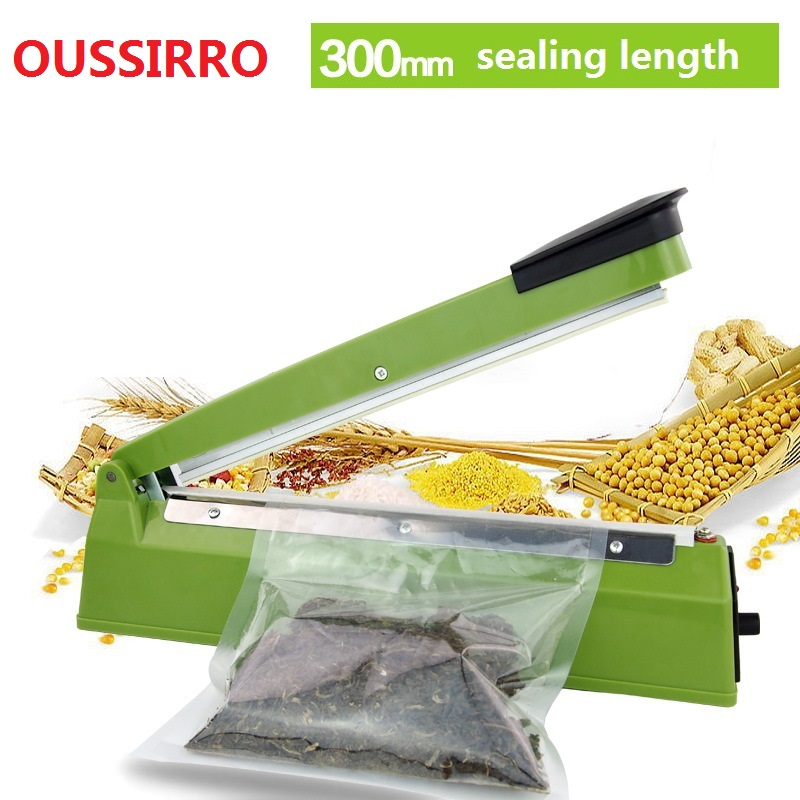 220V 300mm IMPULSE SEALER Heat Teflon Sealing Machine Impulse Bag Sealer Seal Sackholder Poly Tubing Plastic Bag Kit kitchen