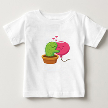 2018 new  Cactus Pattern Print T-Shirt kids Tshirt cotton summer  top Shirts boy/girl t shirt baby Short sleeve t-shirt tops  NN fashionable sochi faulty olympic rings pattern cotton t shirt black xl