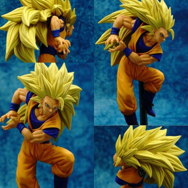anime figure 20cm dragon ball Super saiyan three Battle damage Edition Son Goku Kakarotto action figure toys collection  toy 1