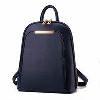 Women Bag 2016 High Quality Female Vintage Backpack Women Leather Pu Korea Travel New Youth Women