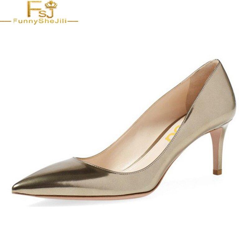 241da0271c Online Shop FSJ Sexy Golden Heels Girls Champagne Kitten Heels Pointed Toe  Metallic Stilettos Pumps For Office Dress Wedding Shoes Woman 41 |  Aliexpress ...