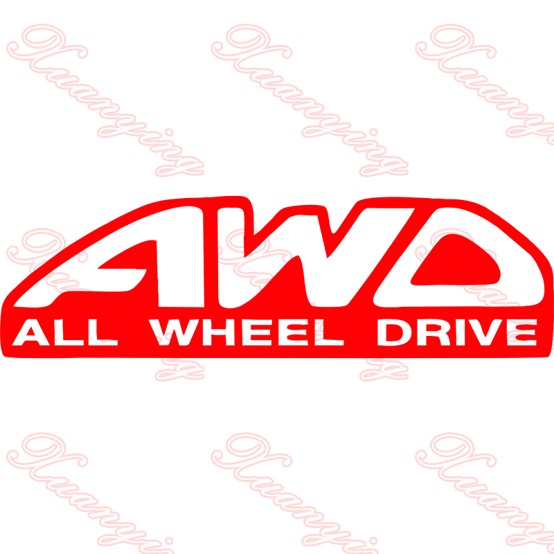 AWD ALL WHEEL DRIVE vinyl car / van graphic decal stickers any colour