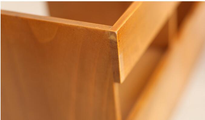 1 PC Zakka épicerie en bois tiroir armoire bureau livre organisateur décoration de la maison en bois boîte de rangement NM 009 - 5