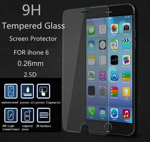 Tempered Glass Screen Protector For iPhone 6 6S 4.7inch i6