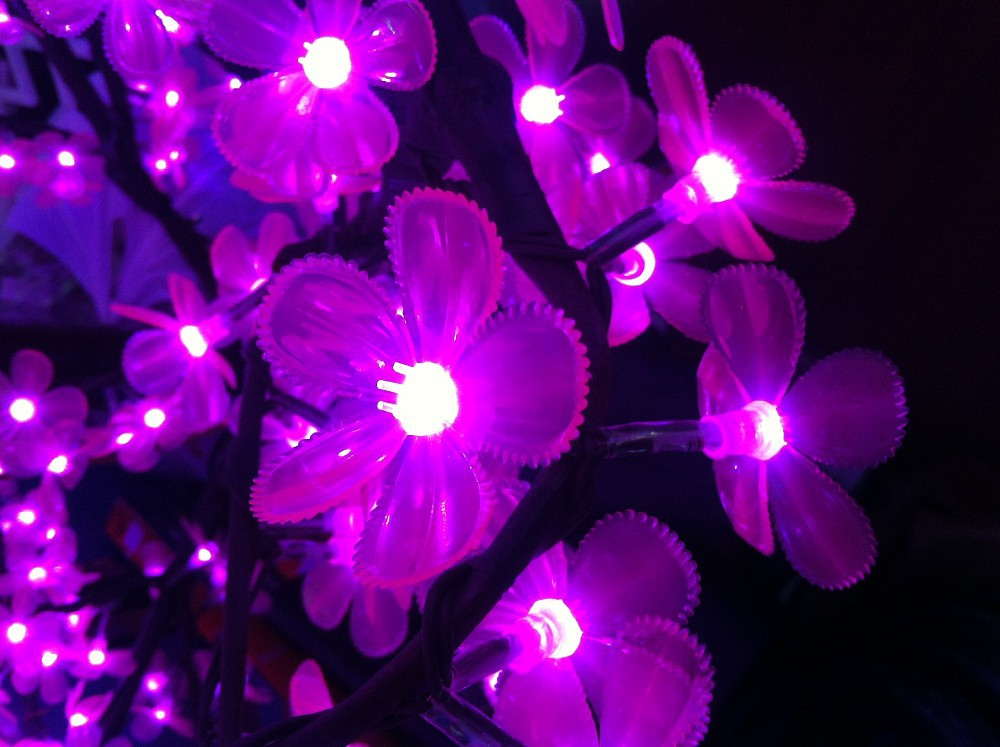 2014 New Holiday Light Christmas Decoration Lights Luxury Handmade Drtificial led Cherry Blossom Tree Light 250cm 1200 Light (2)
