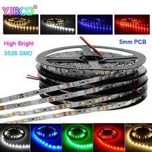 5M 5mm Width 3528 Narrow Side White/Warm White/Blue/Red/Green High Brightness Flexible Light 300leds/600leds IP30/67 led Strip