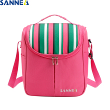 SANNE 7L Polyester Waterproof Picnic Travel Storage Stripe New Design Thermal Insulated Fashion Lunch Bags Bag YQ821