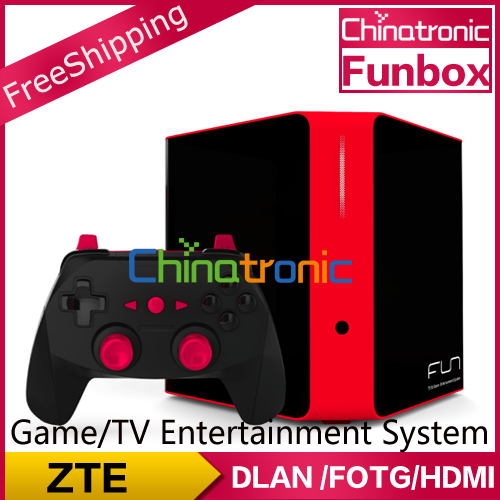 Original ZTE FunBox Game&TV entertainment system Tegra 4 1.8G CPU 2.4G&5.0G WIFI 2G DDR3 RAM Bluetooth 4.0 Android4.3
