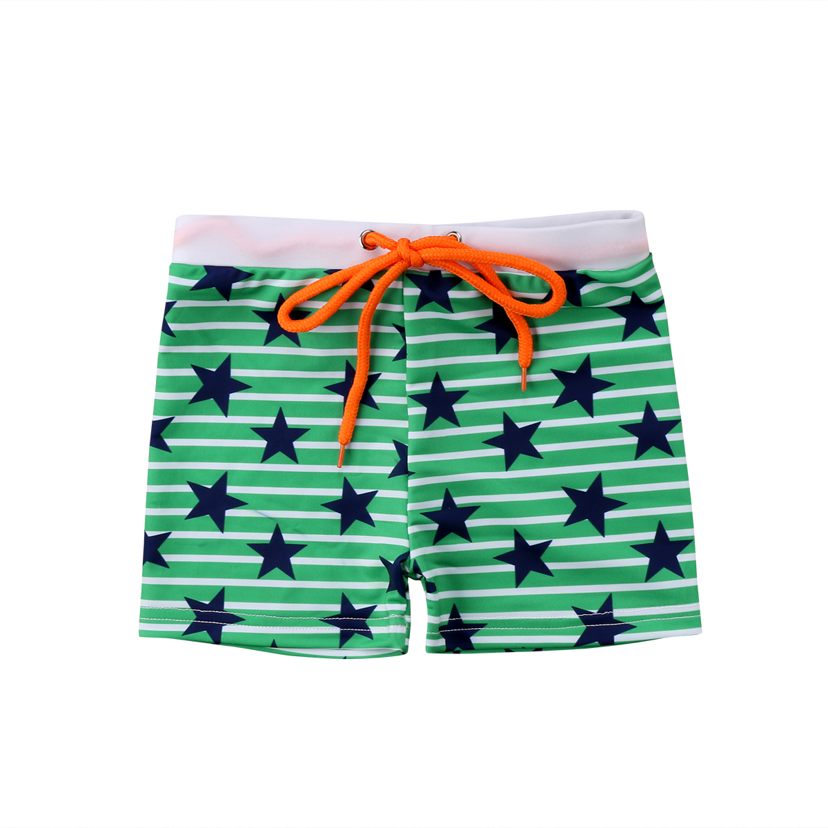 FullBo Stripes and Flamingos Little Boys Short Swim Trunks Quick Dry Beach Shorts