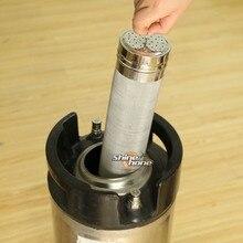 Сухой Бункер из нержавеющей стали, фильтр 300 микрон, пивоваренный хоп паук, фильтр для пивоваренного Keg, фильтр для бочка для домашнего пивоварения