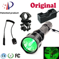 UniqueFire Latest Flashlight HS-802-XRE Led Green Light With Remote Pressure Switch+Barrel Mount+Charger  Hunting Flashlight