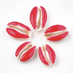 Image 3 - 100pcs Cowrie Shell Beads with Enamel No Hole/Undrilled Mixed Color For DIY Jewelry Accessories Making Necklaces Bracelets