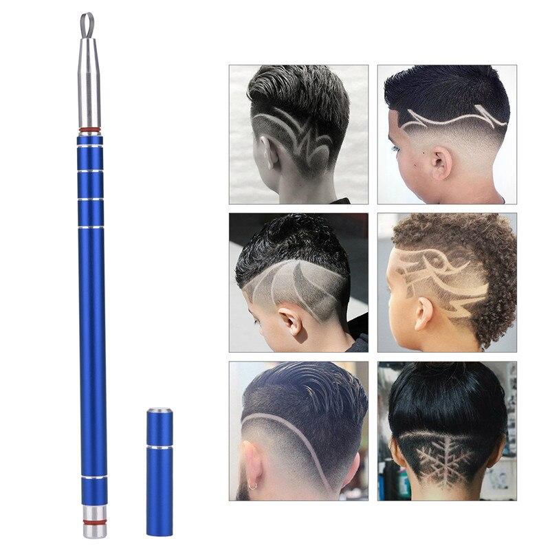 Multifunktions Magie Gravierten Kugelschreiber Edelstahl Haarschnitt Rasiermesser Rasieren Pen Für Barber Friseur Schere Augenbraue Bart Trimer