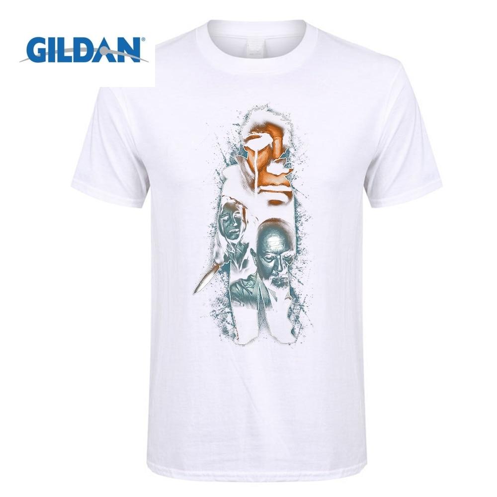 GILDAN Young Michael The Root of Evil Print Halloween Michael Myers T Shirt Short Sleeve Tees Shirt Scary Movie Horror T-Shirt