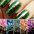 1 Bag Nail Art Sequins Colorful Shining Scales Nail Sequins Glitter Tips Manicure Nail Art Decoration # 8353189