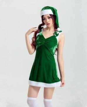 Vrouwen Sexy Groene Kerst Kleding Voor Volwassenen Jurk 34cAq5jRL