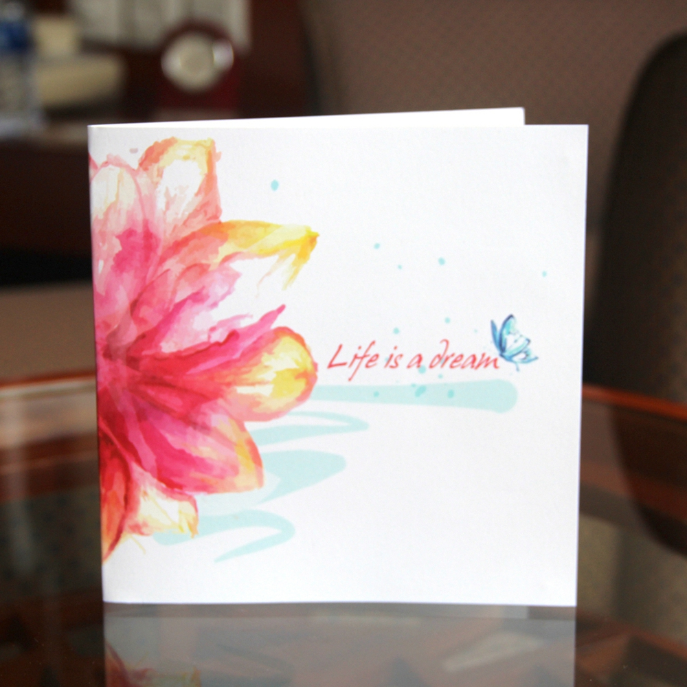 3d Blooming Flower Postcard Paper Laser Cut Pop Up Greeting Gift