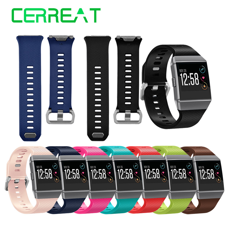 Cerreat Wrist-Strap Bracelet Watch Smart-Accessories Fitbit Ionic Replacement Silicone
