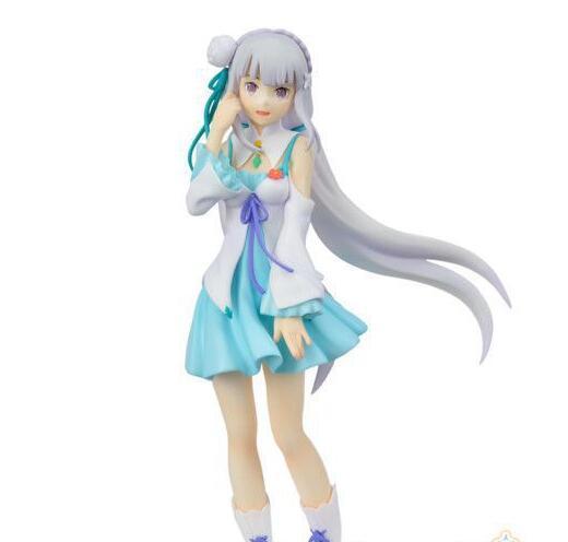 Re:Zero Kara Hajimeru Isekai Seikatsu Emilia Anime Action Figure PVC New Collection Figures Toys Collection For Christmas Gift