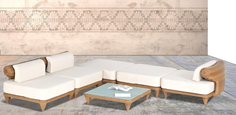 2017 New Design Sofa Furniture Mateus Outdoor Wicker 6 pc Modular circle  living room sofas. Online Get Cheap Modular Garden Sofa  Aliexpress com   Alibaba Group