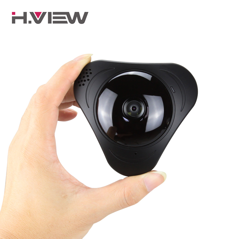 H.View IP Camera 3D VR Camera WIFI 960P Fisheye Lens HD Panorama WI FI Camera IR Night Vision CCTV Security Camera Remote Access
