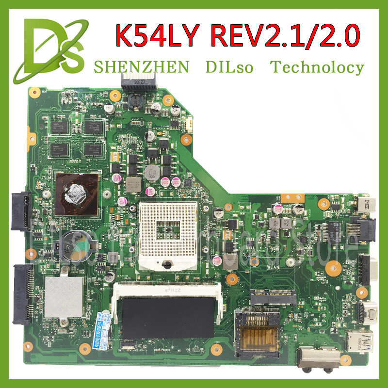 KEFU K54LY For ASUS K54LY X54H K54HR X84H laptop motherboard K54LY mainboard rev2.1/2.0 100% tested motherboard k54hr x54h k54ly laptop motherboard for asus for i3 cpu full tested ok 6 months warranty