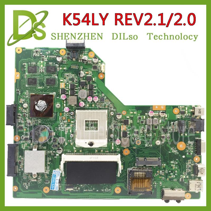 Kefu K54LY для ASUS K54LY X54H k54hr X84H материнская плата для ноутбука K54LY плата rev2.1/2.0 100% тестирование материнской платы