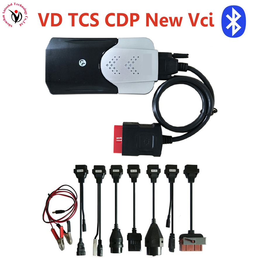 2018 Latest VD TCS CDP BT 2016.00 /2015R3 with Full 8pcs car cables for cars trucks diagnostic tool obd obd2 with Multi-langauge цены