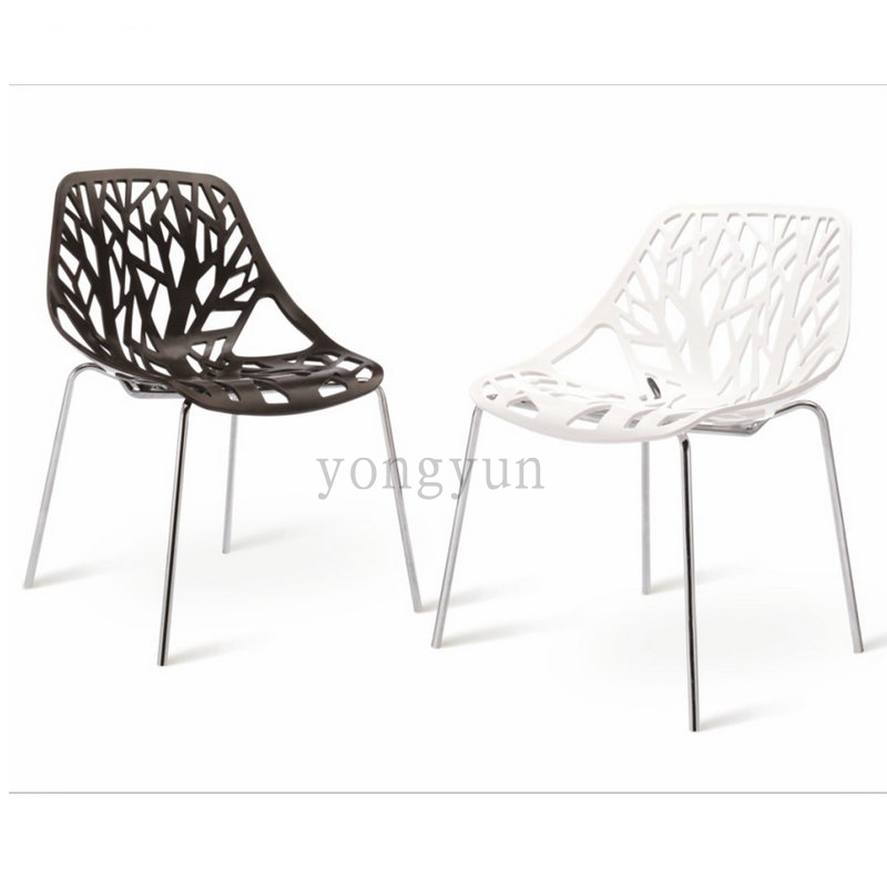 replica caprice chair dinning famous design the leaves plant minimalist modern fashion furniture metal plastic dining chair