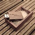 (Mais de 5 PCS Logotipo Personalizado Gratuitamente) Casamento Unidade Flash USB de Madeira, nogueira LOGOTIPO Personalizado 4 GB 8 GB 16 GB 32 GB USB 2.0 flash memory stick