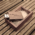 (Over 5PCS Free Custom Logo) Wedding Wooden USB Flash Drive, Walnut Personalized LOGO 4GB 8GB 16GB 32GB USB 2.0 flash stick