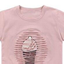Girl's Ice Cream Printed T-Shirt