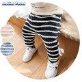 2017 Novo Inverno Crianças Calças Roupa Do Bebê Das Meninas & Meninos Listras Calça Casual Criança Crianças Engrossar Quente Roupa Interior Pant