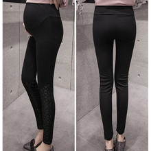 Fashion Trend High Waist pregnancy trousers  Spring Autumn Maternity Leggings Pants for pregnant women Clothing E0082