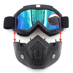 Image 5 - Safety Goggles Face Mask Windproof Dustproof UV protection Eyewear Mask Removable Bicycle Motorcycle Tactical Goggles Masks