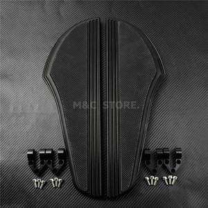 Image 4 - Front Driver Foot Pegs Floorboard For Harley Touring Road King Tri Street Glide FLHR FLHX 2000 2019 Softail Heritage Fat boy