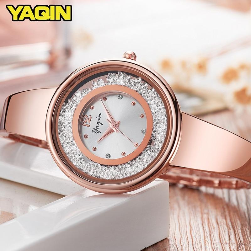 Nieuwe mode hoge kwaliteit luxe merk YAQIN vrouwen horloge roestvrij - Dameshorloges - Foto 3