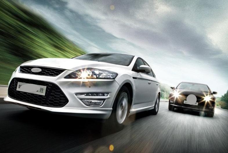 NERO LIT GRILLE GRILL per Ford Mondeo Fusion 2011-2012 GRIGLIA di ALTA QUALITÀ 2 PZ
