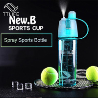 Creative Portable Plastic Cups Sports Spray Water Bottle For Outdoor Bicycle Cycling Sports Gym Drinking Bottles