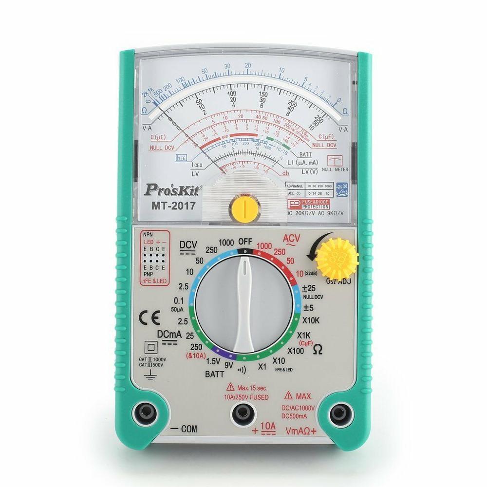 2018 livraison gratuite Proskit MT-2017 AC/DC LCD fonction de protection analogique multimètre de haute qualité