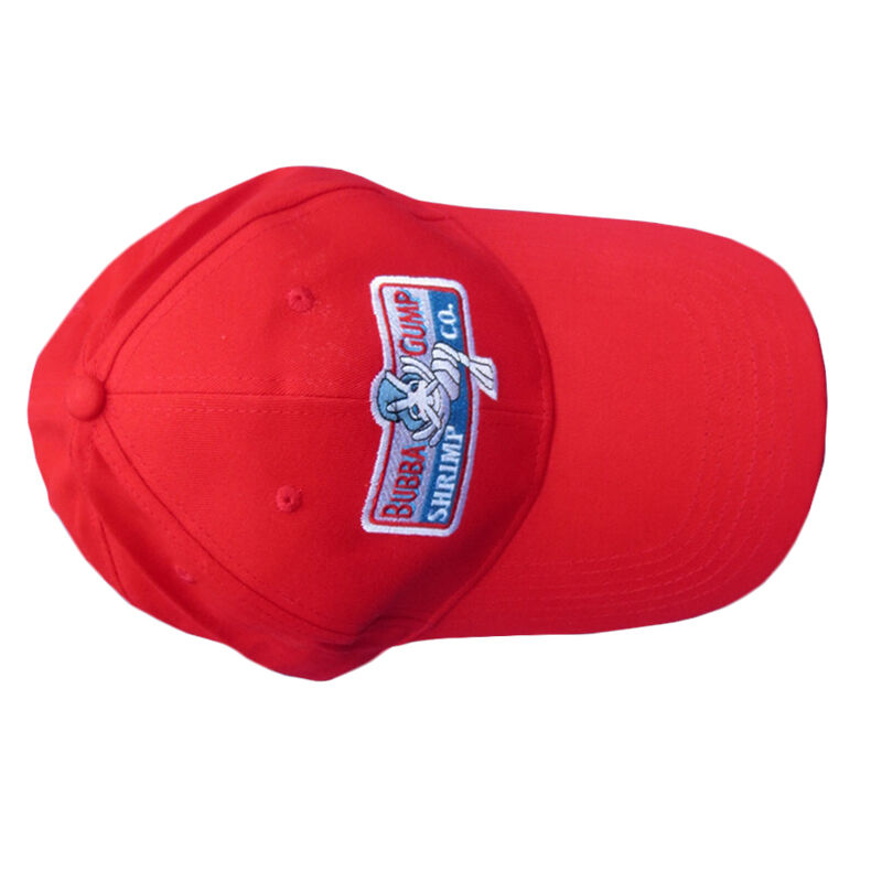 Forrest Gump 1994 BUBBA GUMP SHRIMP CO Red Snapback Hat Embroidered Baseball Cap