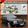 Автомобиль ВОДИТЬ Комплект Пакет Интерьер Лампы Белого 12 В Высокой Мощности Для 2005-2010 Chrysler 300 300C Карта Dome Номерной знак Голве Box Light