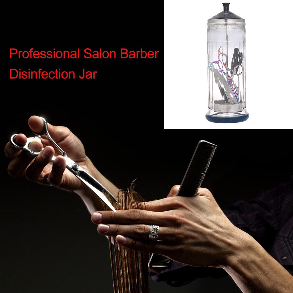 Image 5 - Professional Salon Barber Disinfection Jar Sterilization Container Sanitizer Glass Manicure Disinfection Cup Hairdressing ToolsStyling Accessories   -