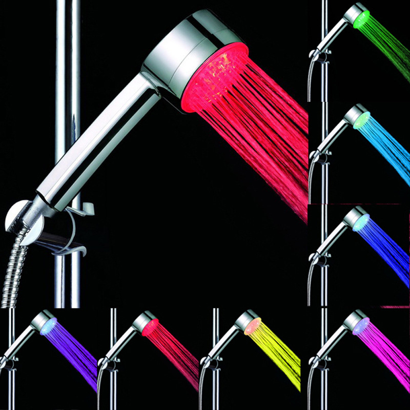 CY8008-A12 Multi-colors Hand Shower Water Powered LED Bathroom Shower Head Automatic Control 7 Color LED Hand Shower